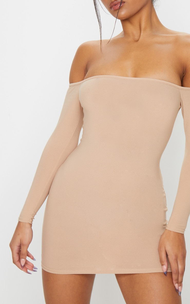 Stone Bardot Bodycon Dress 4