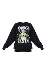 Black Elf Christmas Printed Sweater 3