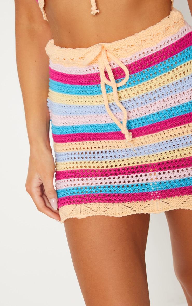 Rainbow Crochet Knit Skirt 6