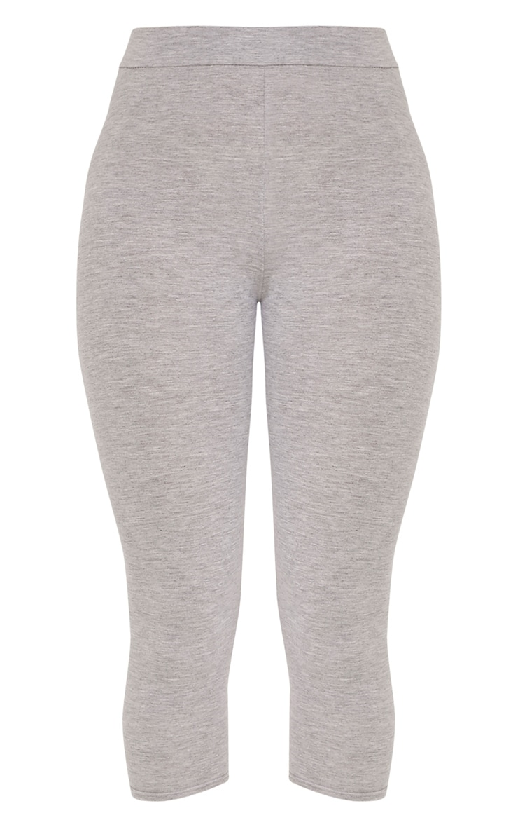 Basic legging court en jersey gris 3