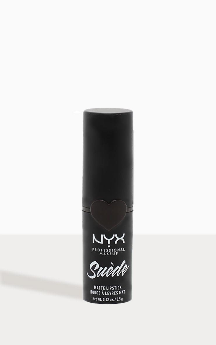 NYX PMU Suede Matte Black Lipstick Alien 2