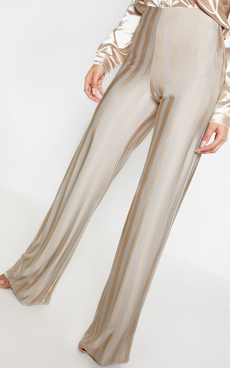 Stone Disco Stripe Casual Wide Leg Trouser 5