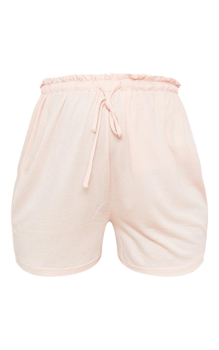Maternity Pink Crinkle Crepe Drawstring Lounge Shorts 6