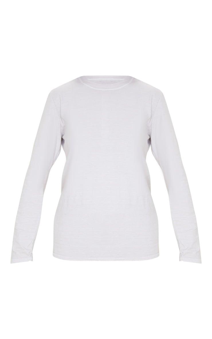 T-shirt sable délavé à manches longues 3