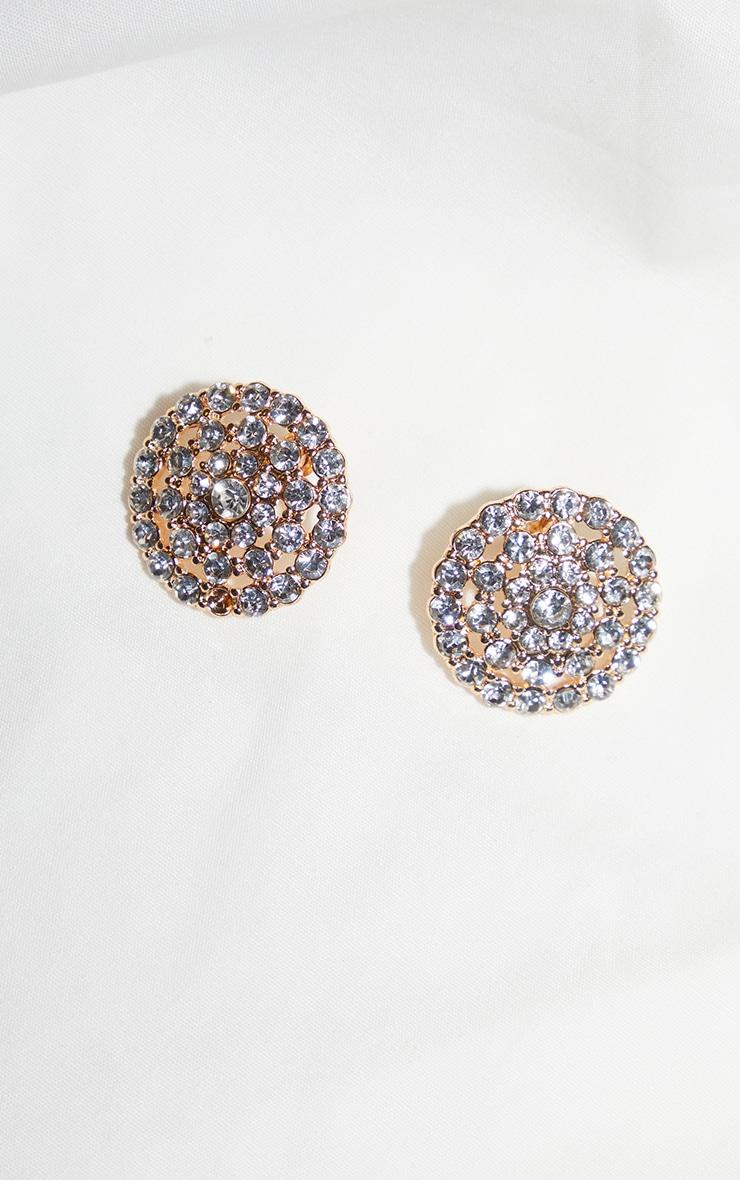 Crystal Circle Cluster Stud Earrings 2