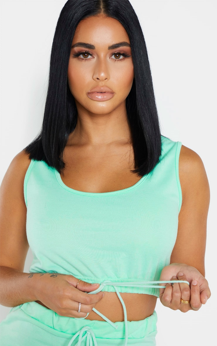 Shape Mint Sweat Sleeveless Crop Top 4