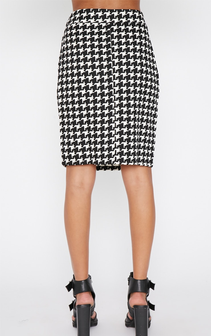 Loreto Monochrome Dogtooth Skirt 2