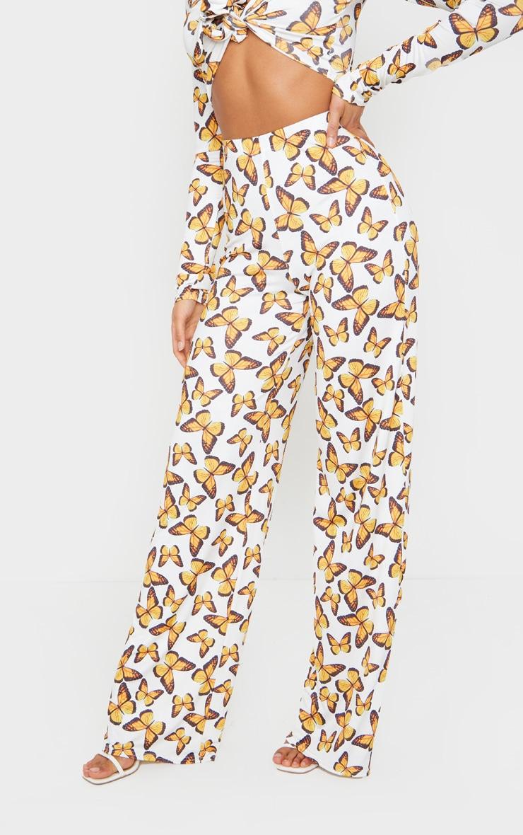 Multi Butterfly Print Wide Leg Pants 2