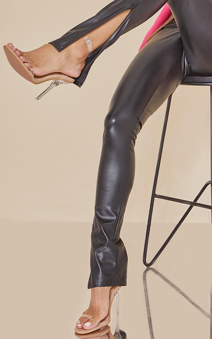 Nude Wide Fit Clear Heel Single Strap Sandal 1