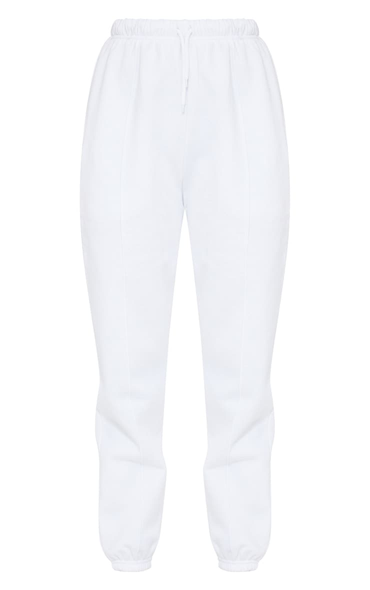 White Seam Front Detail Joggers 5