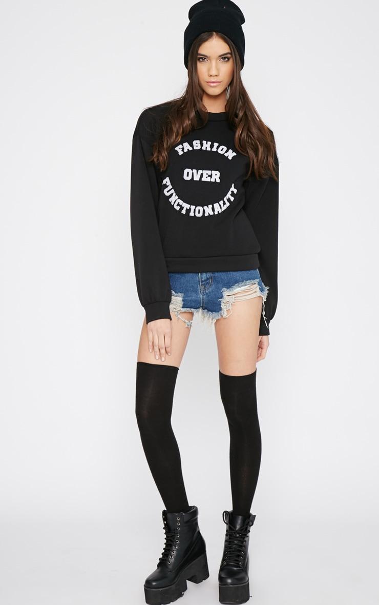 Madison Black Fashion Over Functionality Sweater 3