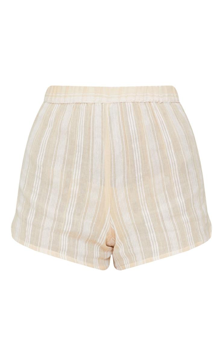 Stone Textured Stripe Shorts  3