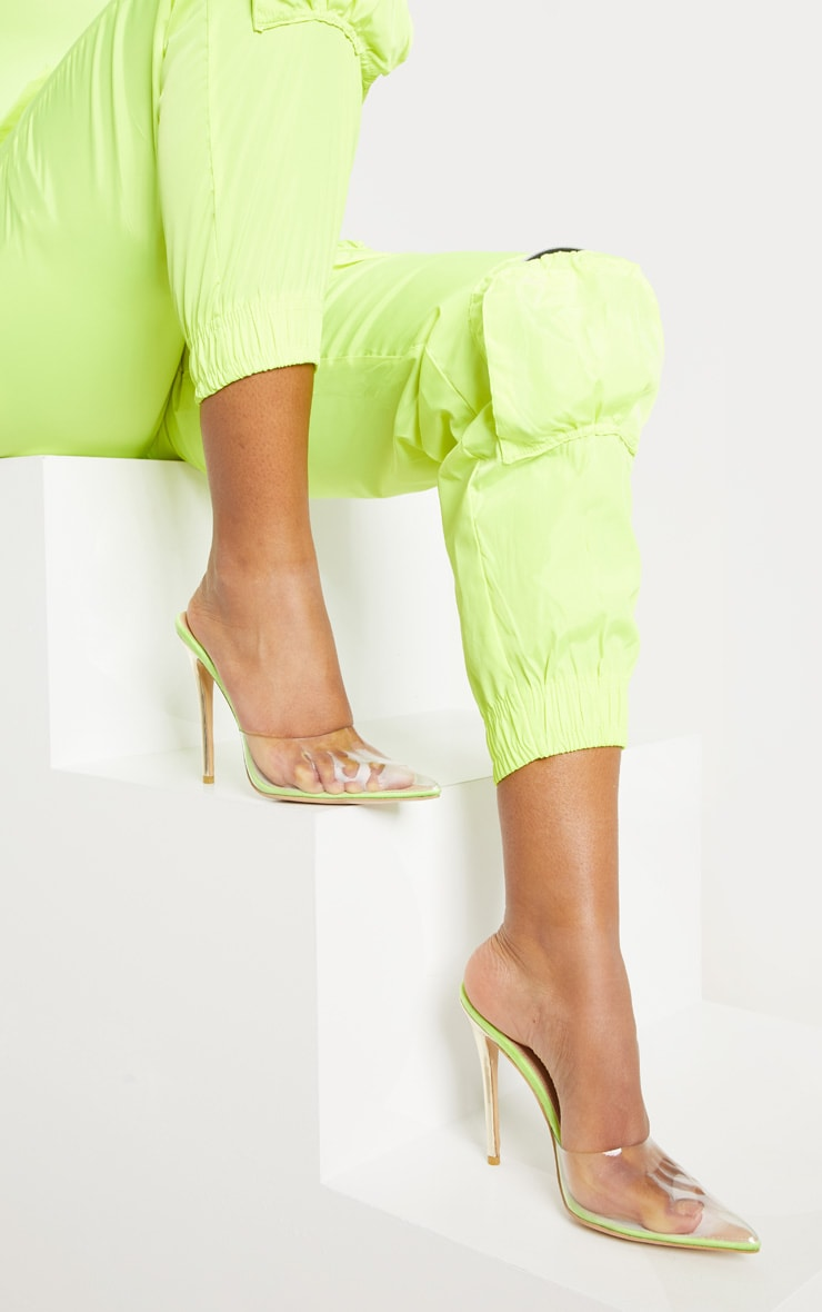 Lime High Clear Mule Court