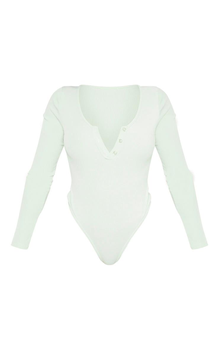 Shape Sage Khaki Ribbed Long Sleeve Bodysuit 3