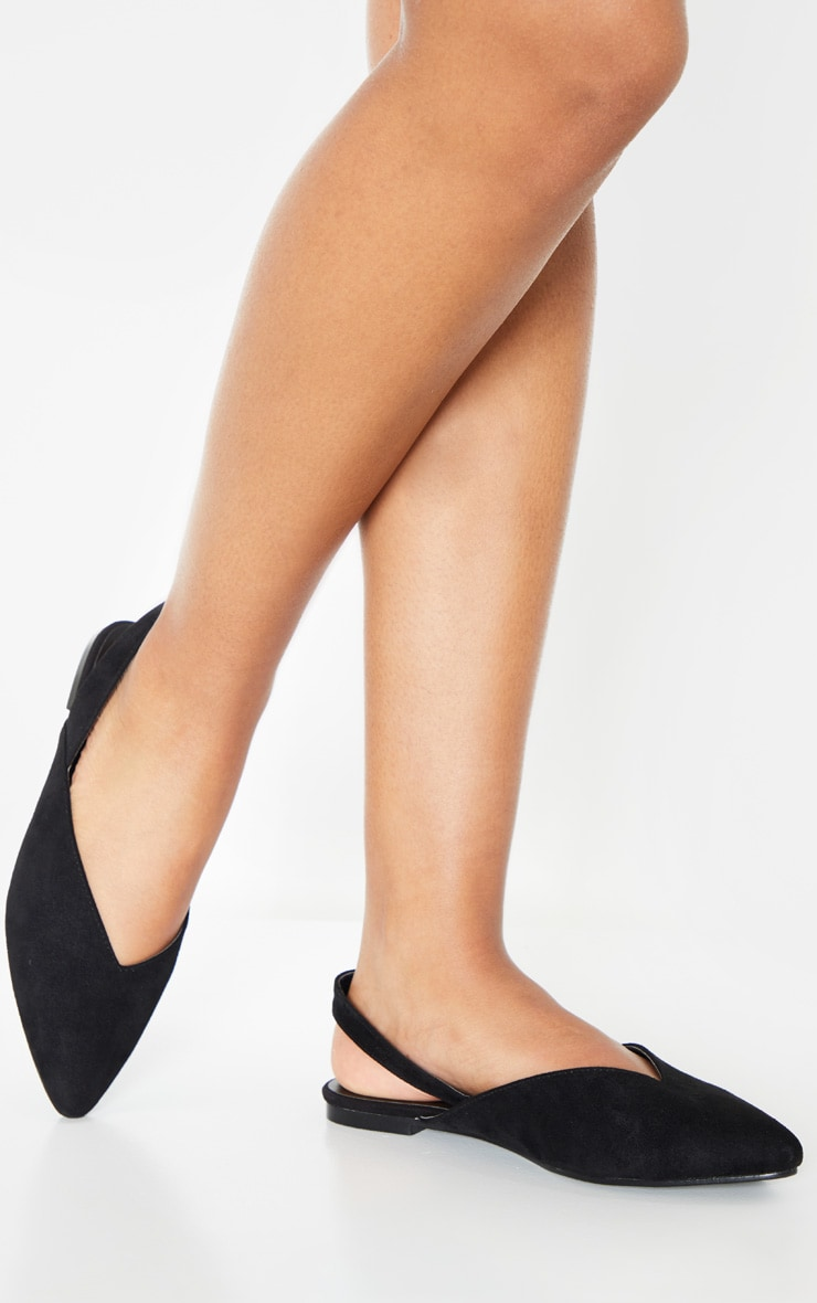 Black Point Toe Slingback Flat  2