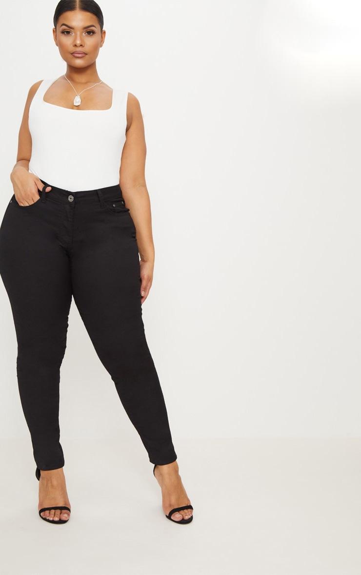 PLT Plus - Jean skinny noir 1
