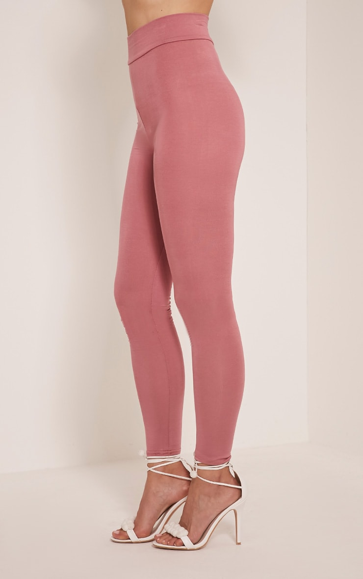 Basic Rose High Waisted Jersey Leggings 4