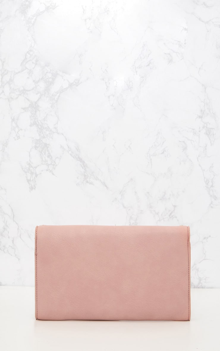 Pink Eyelet and Stud Lockable Clutch 3