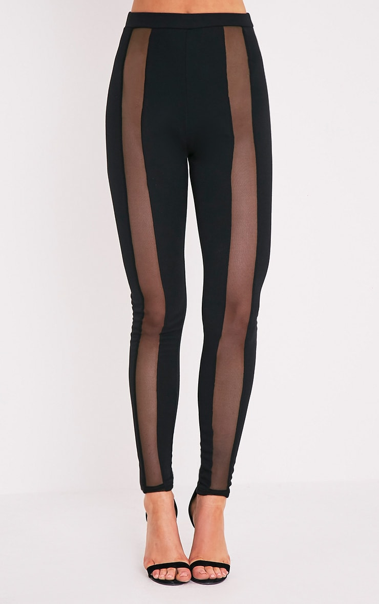 Rach Black Mesh Front Leggings 2