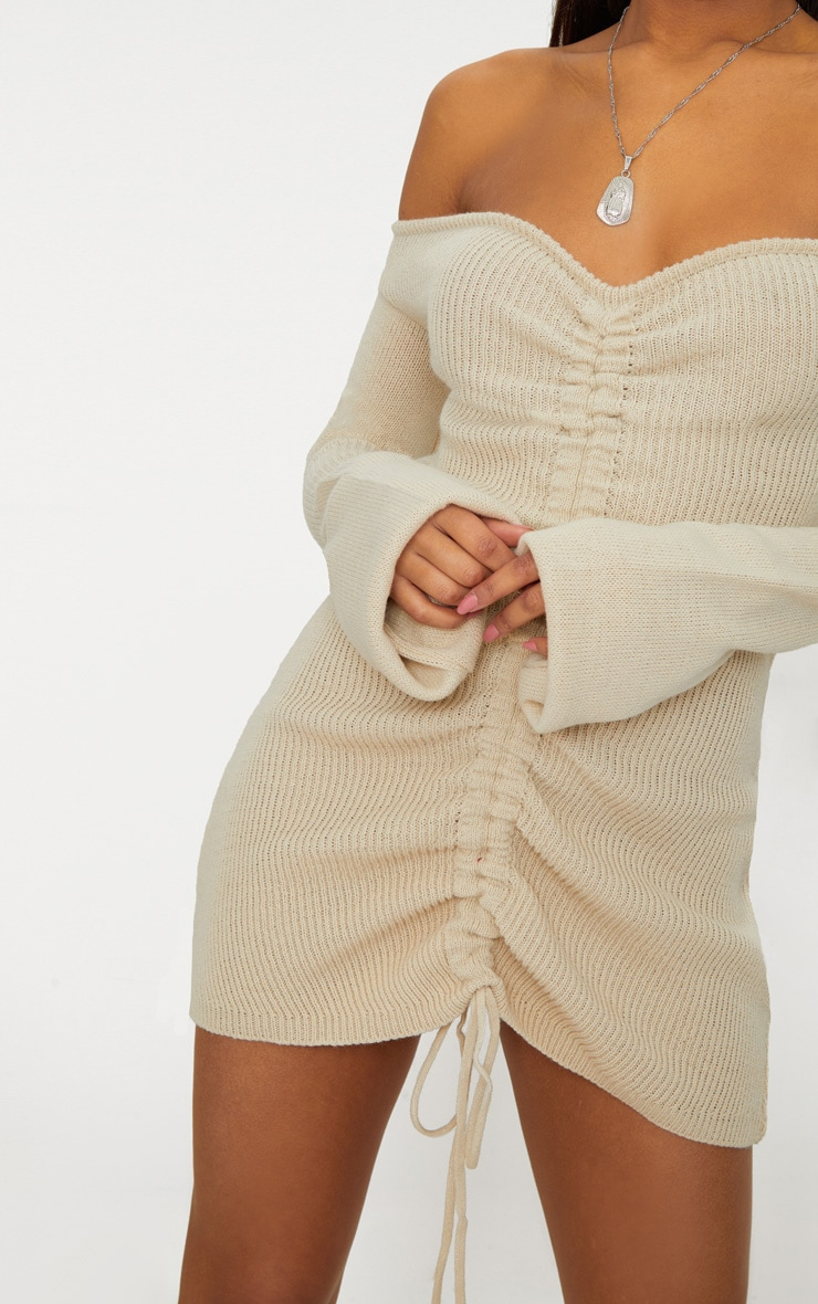 Stone Ruched Knit Dress 5
