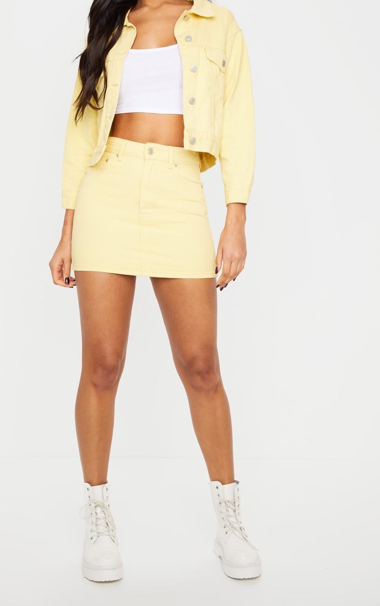 Lemon Cropped Sleeved Denim Jacket 2