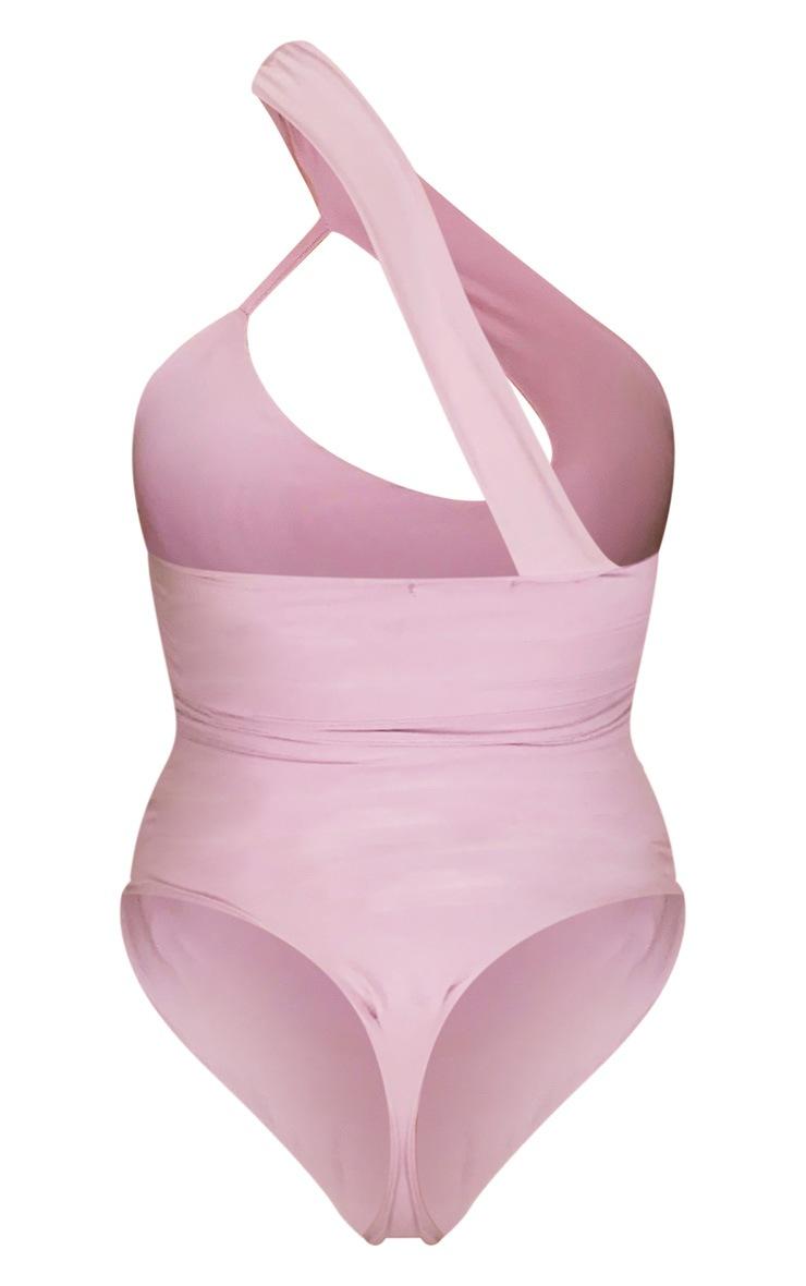Lilac Cut Out One Shoulder Bodysuit 6