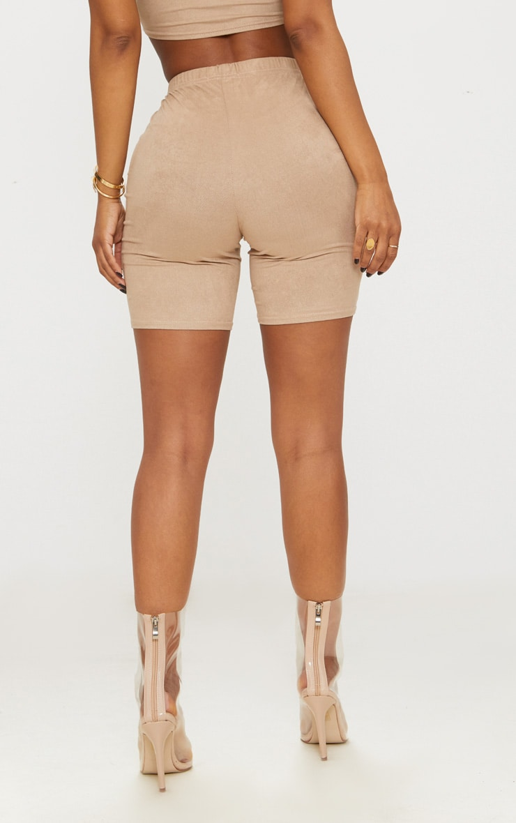 Shape Stone Faux Suede Cycling Shorts 4