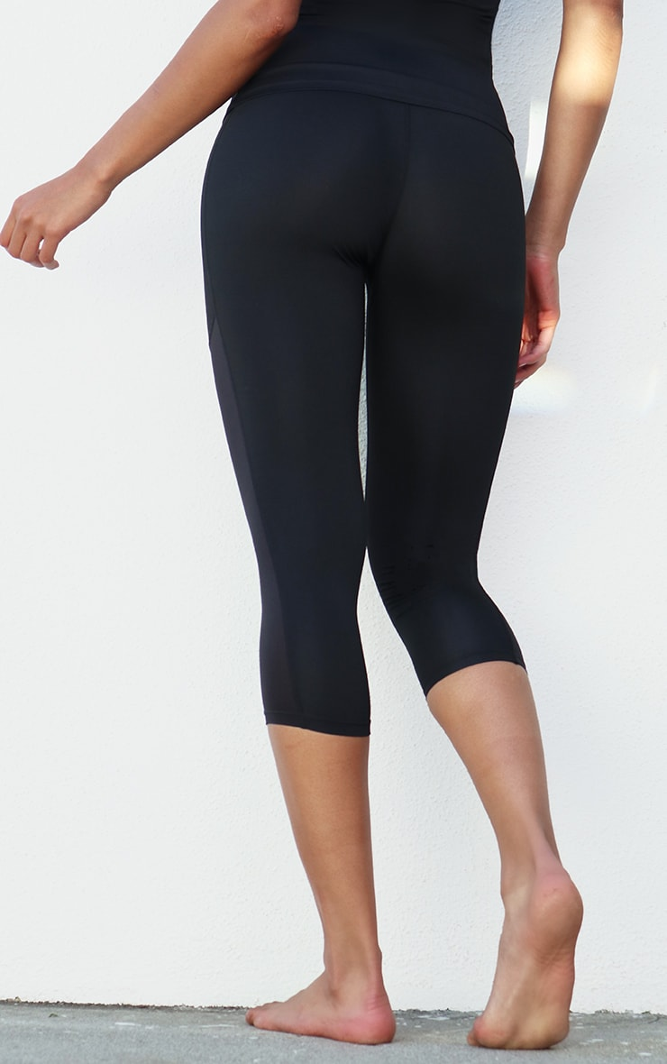 Black Side Pocket Cropped Legging 3