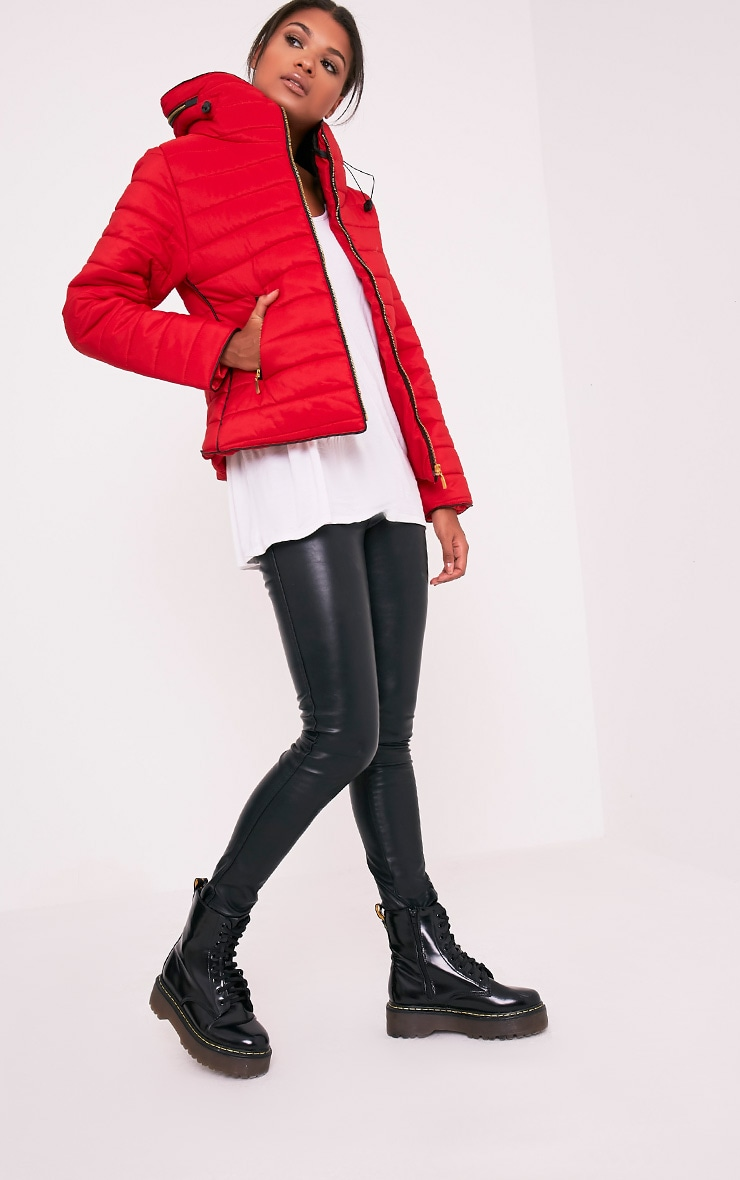 Mara Red Puffer Jacket Pretty Little Thing Huge Surprise For Sale SnTzE