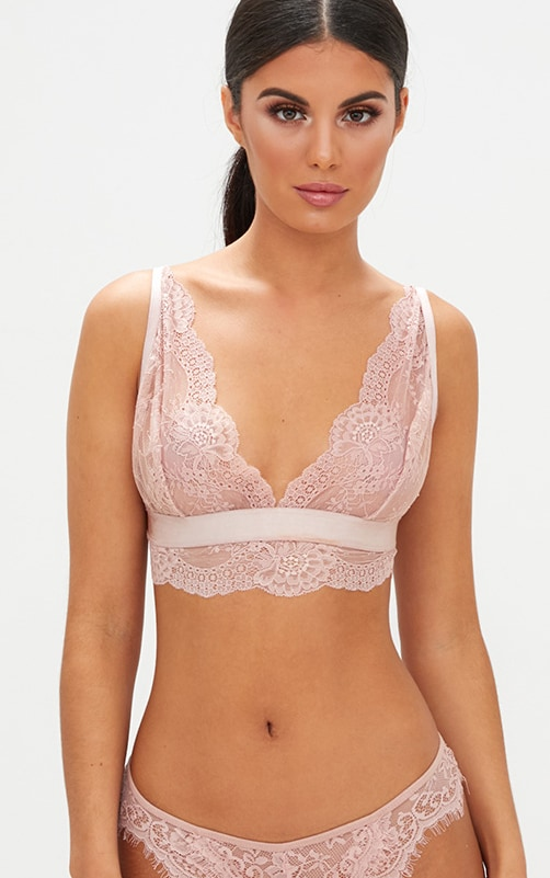 Blush Scallop Lace Underbust Detail Bra 1