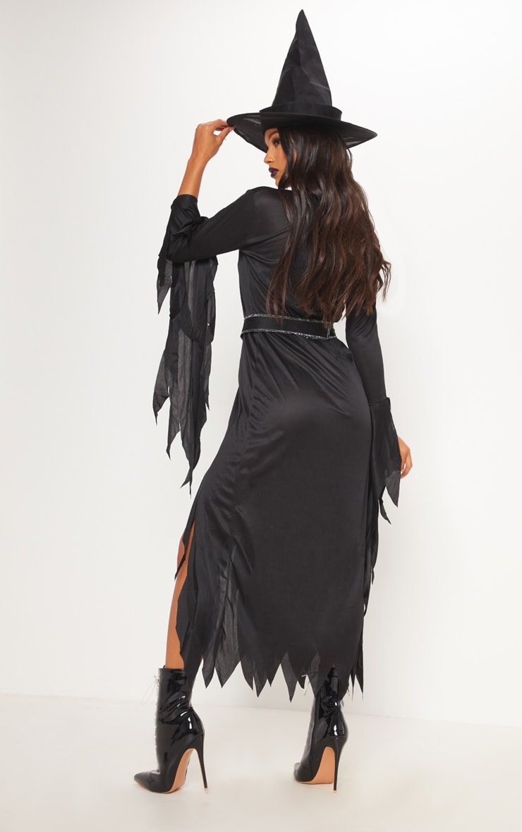 Gothic Witch Halloween Fancy Dress Outfit 2