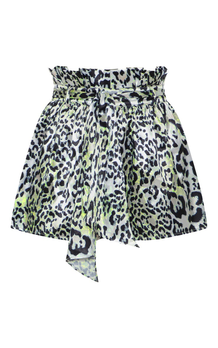 Leopard Print Tie Waist Short 3