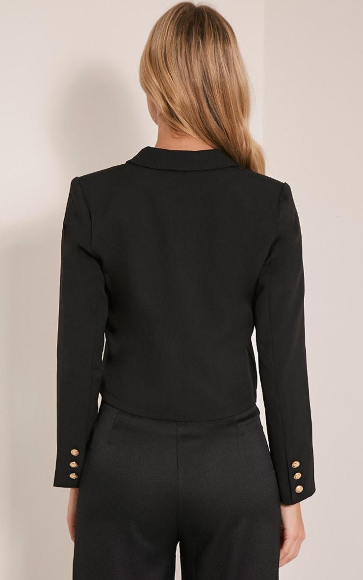 Dionne Black Cropped Military Style Blazer 2