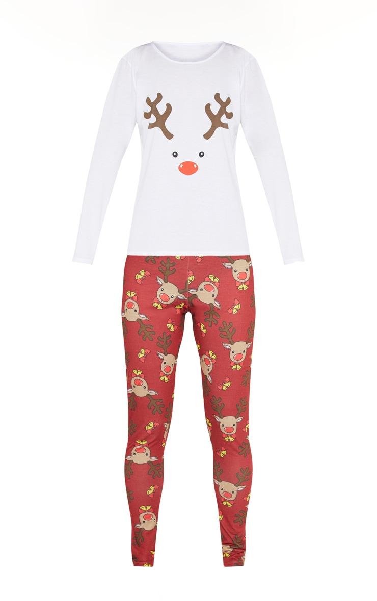 Red Long Rudolf PJs 3
