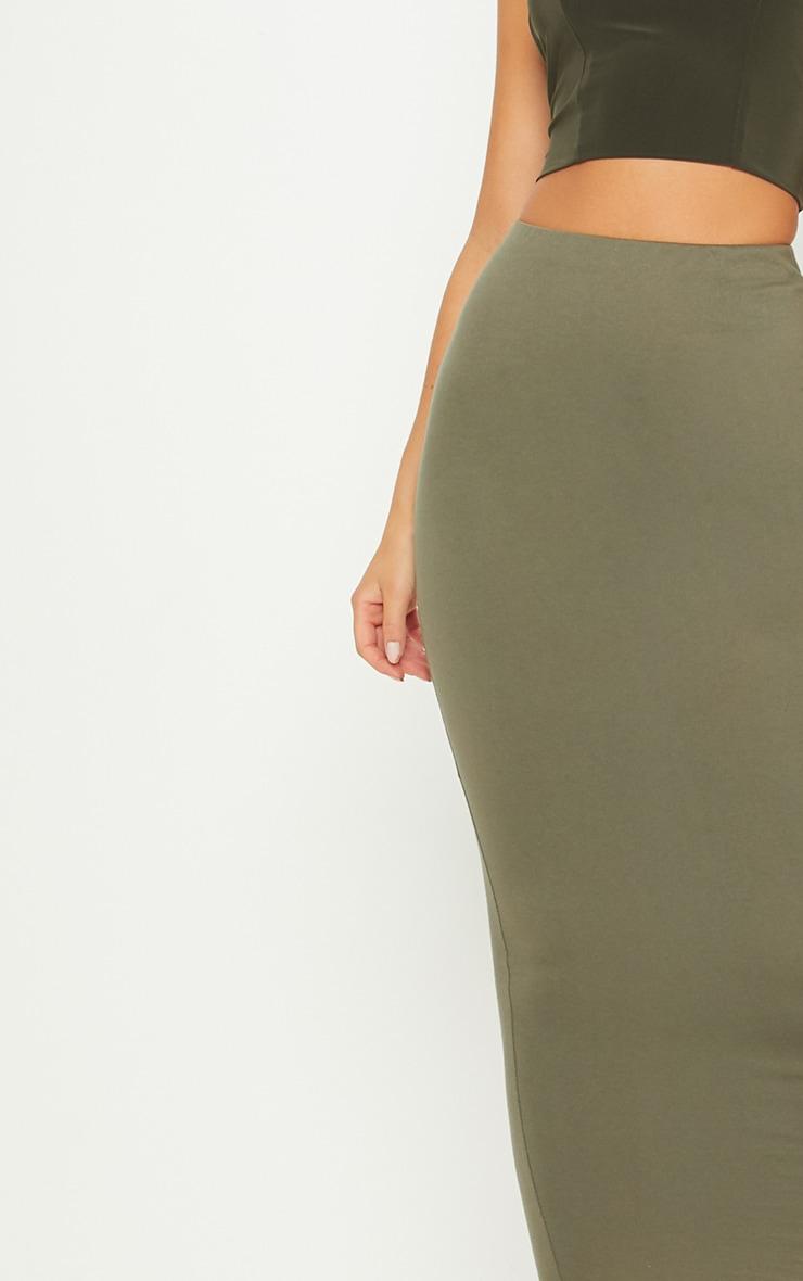 Deep Khaki Jersey Midaxi Skirt  5