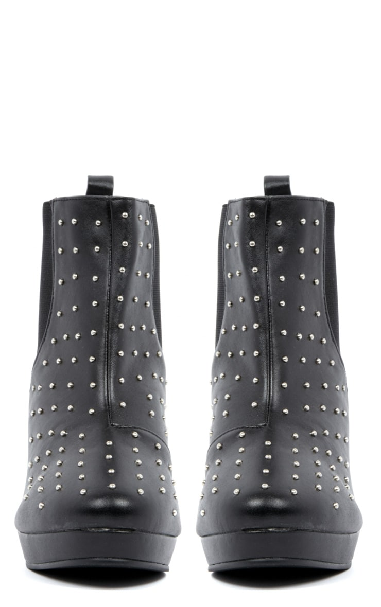 Kasey Black Studded Ankle Boots 3