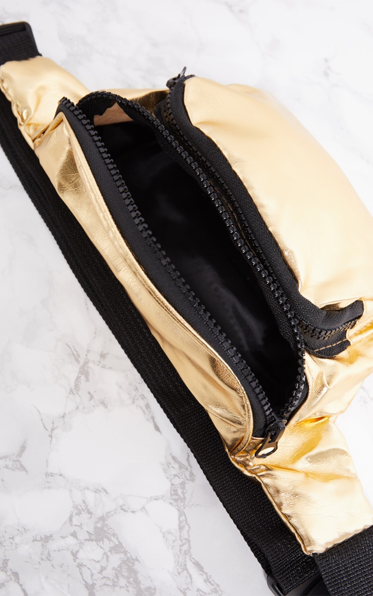 Gold Metallic Bum Bag 6