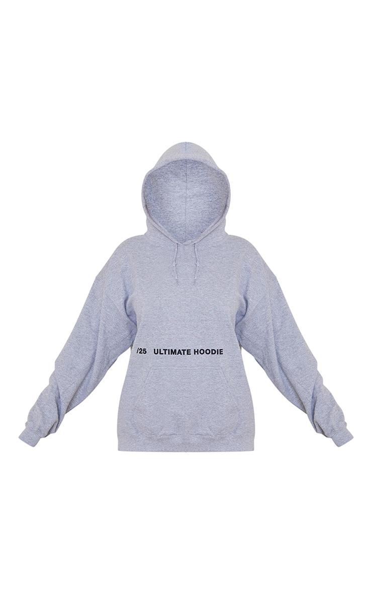 Grey Ultimate Slogan Hoodie 5