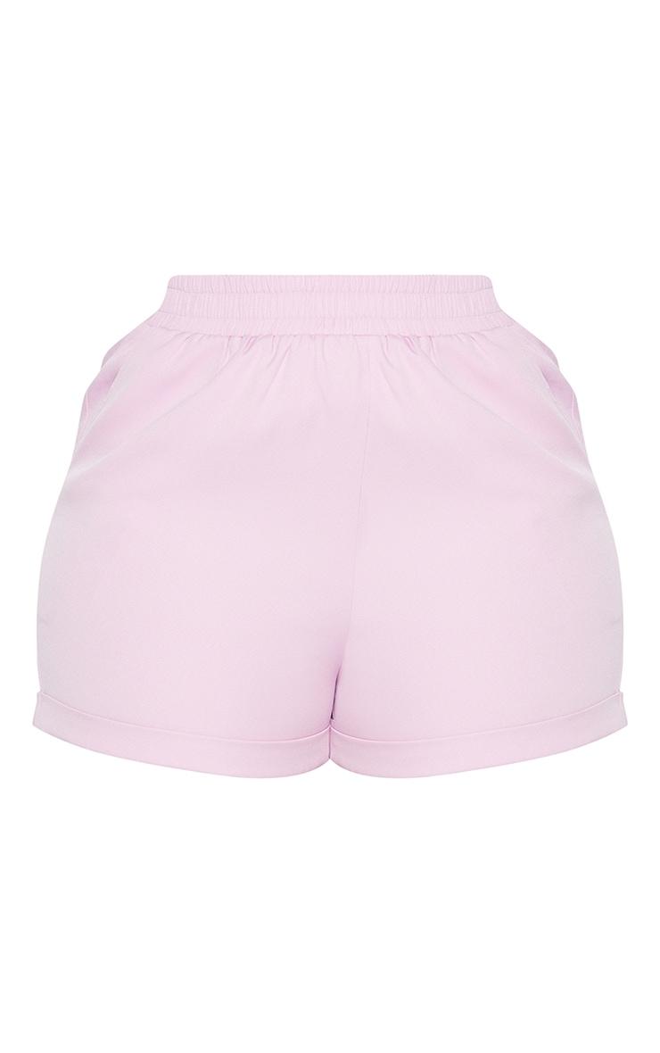 Plus Lilac Ruched Waist Suit Shorts 6