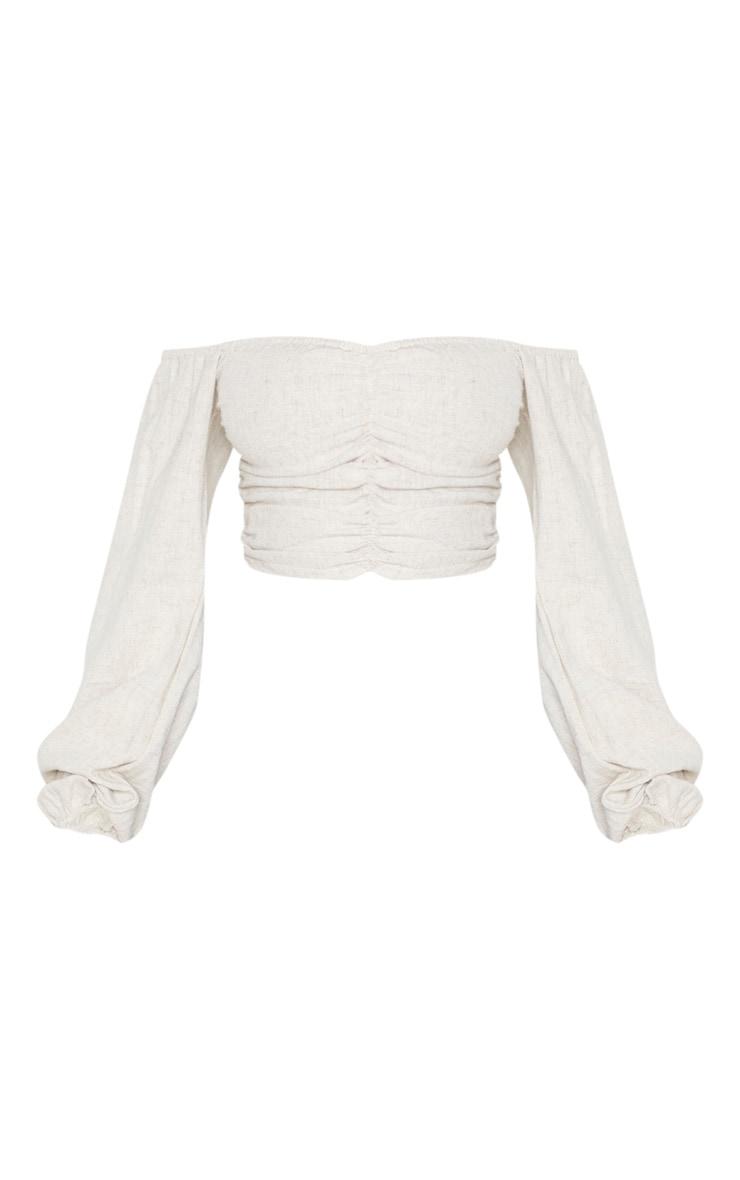 Petite Stone Bardot Full Sleeve Crop Top 3