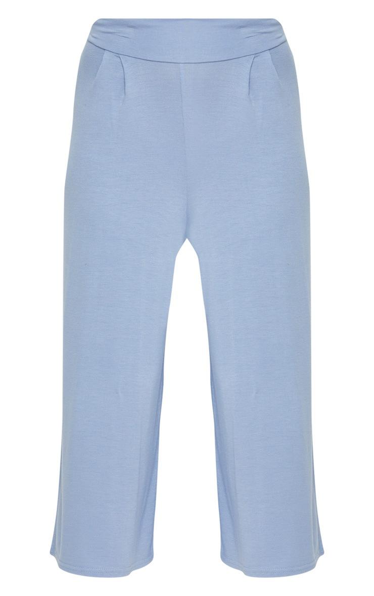 Dusty Blue Basic Culotte  3