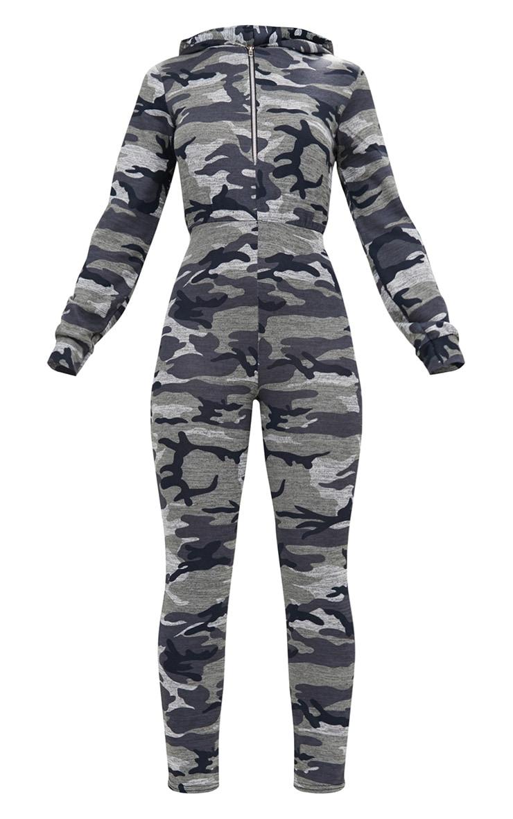 Camo Hooded Zip through Jumpsuit 3