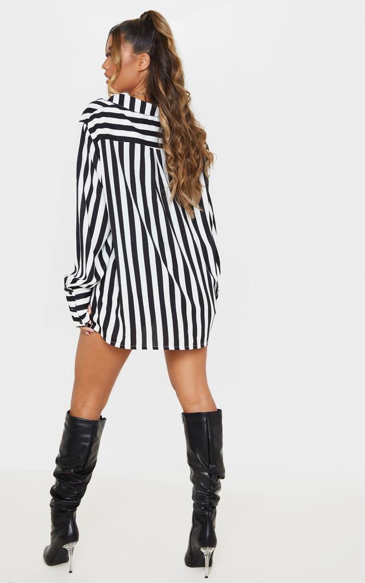 Mono Stripe Oversized Cuff Shirt 2