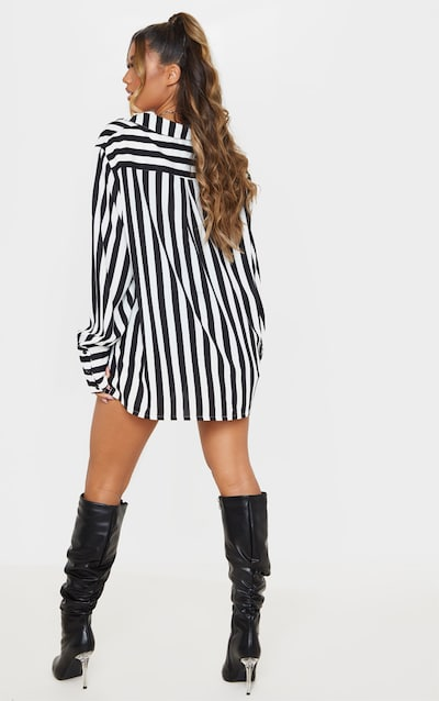 Mono Stripe Oversized Cuff Shirt