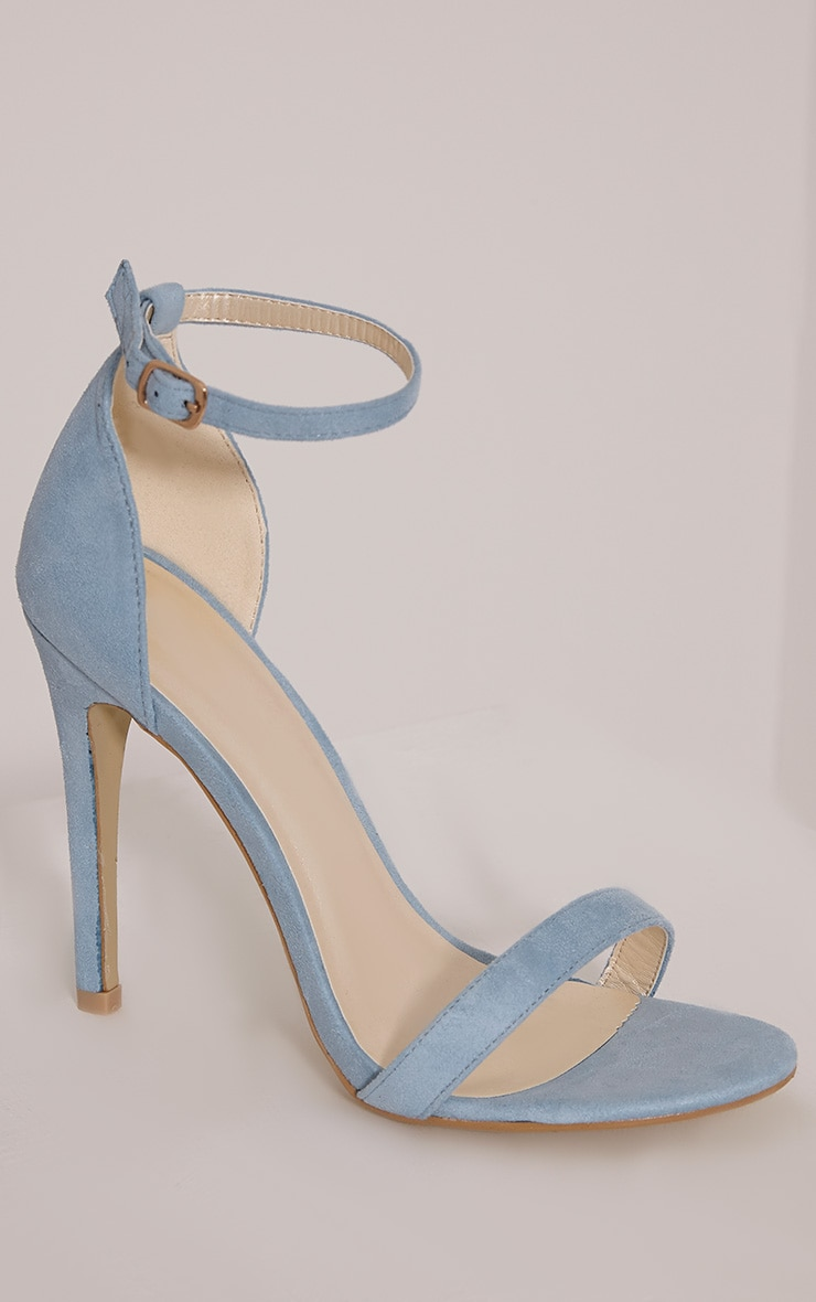 Clover Dusty Blue Strap Heeled Sandals 5