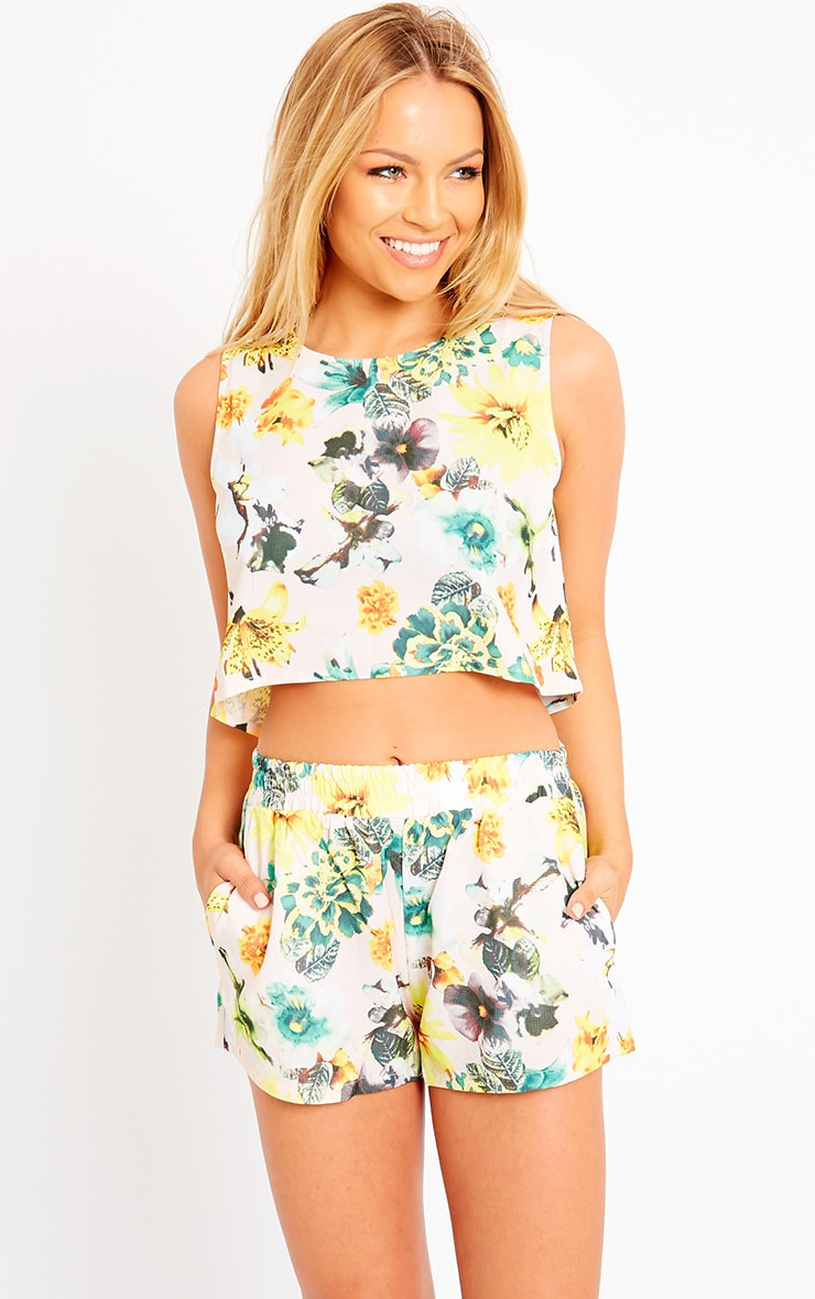Darby Floral Print Shorts 1