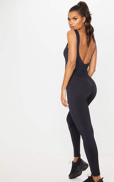 Black All In One Yoga Unitard