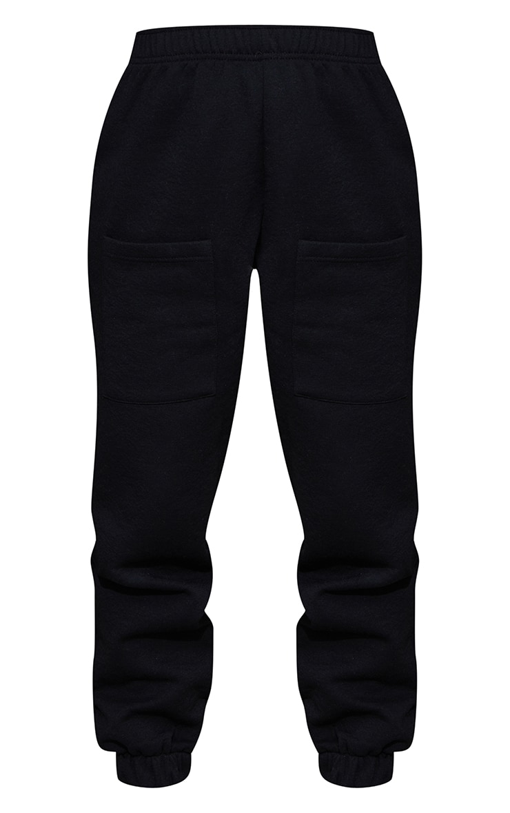 Petite Black Pocket Thigh Casual Joggers 5