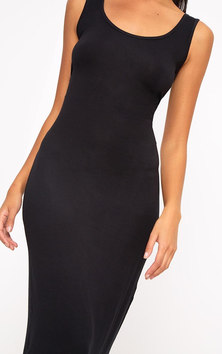 Basic robe maxi noire 5