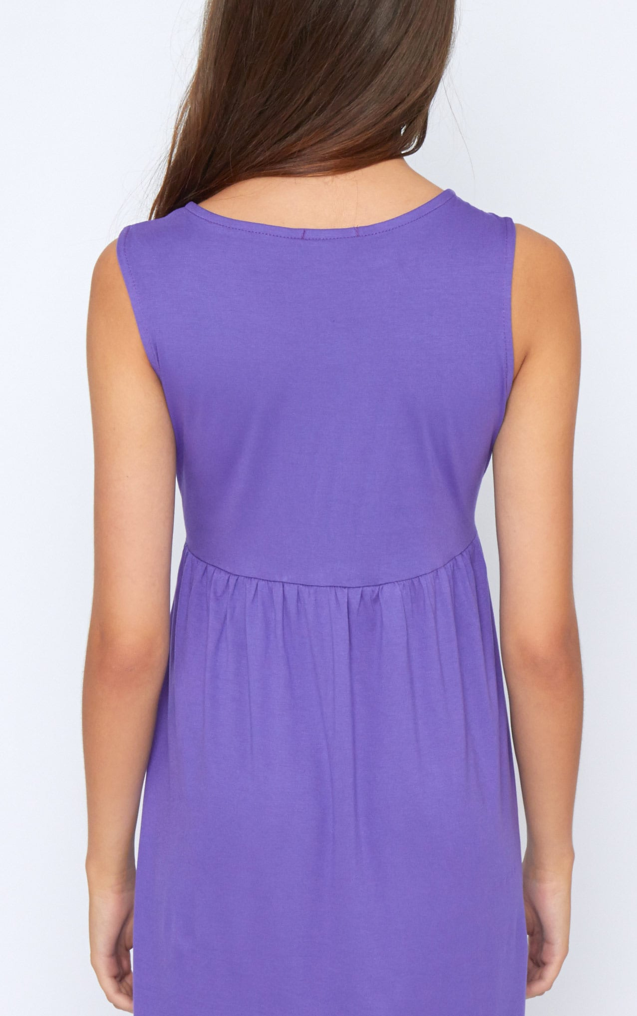 Kirsten Purple Sleeveless Smock Dress 2